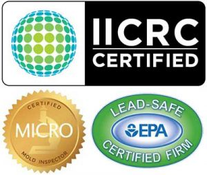 IICRC, MICRO and Lead-Safe badges