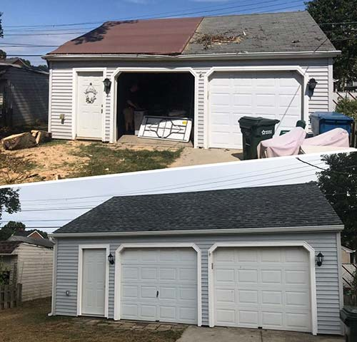 storm damage garage restoration